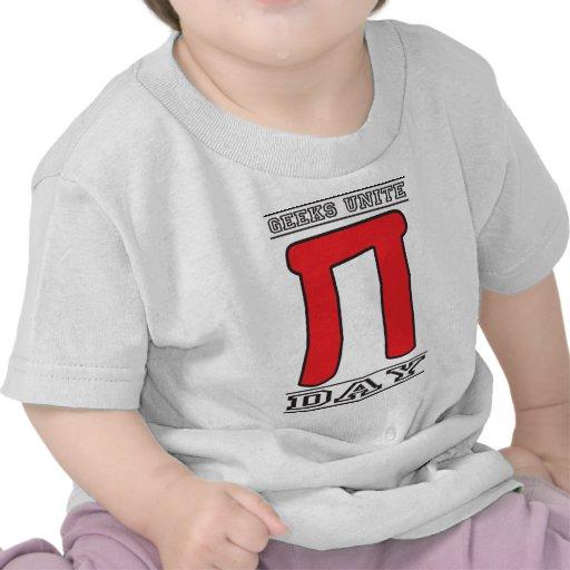 Los frikis unen día del pi camisetas