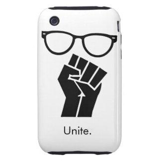 Los frikis unen el caso del iphone iPhone 3 tough funda