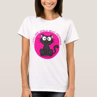 Los gatos de la camiseta son mejores amigos de los