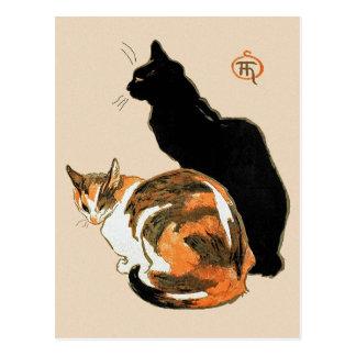 Los gatos de Theophile Steinlen Postal