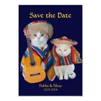 Los gatos divertidos al sur del boda de la invitación 8,9 x 12,7 cm