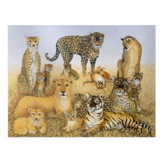 Los gatos grandes postal
