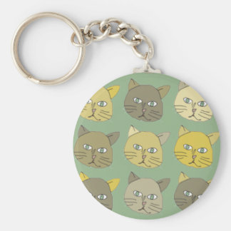 los gatos llavero redondo tipo chapa