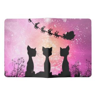 Los gatos miran al cielo a Papá Noel Cuaderno Extra Grande Moleskine