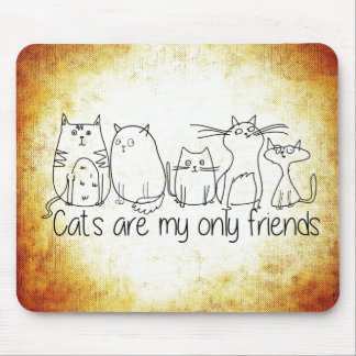 Los gatos son mis solamente amigos alfombrilla de ratón