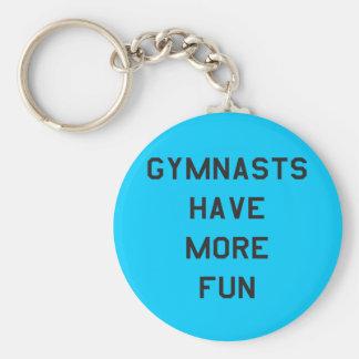 Los gimnastas tienen más etiquetas de los cuaderno llavero redondo tipo chapa