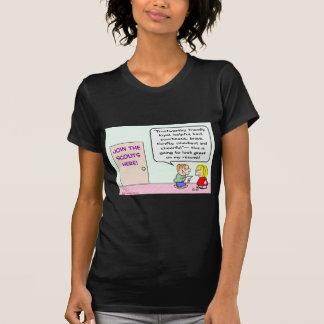 los girls scout del muchacho se unen al gran camiseta