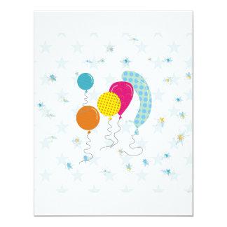 Los globos invitación 10,8 x 13,9 cm
