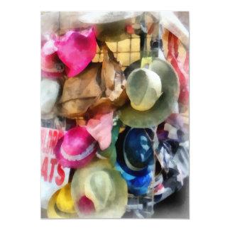 Los gorras de los niños invitación 12,7 x 17,8 cm