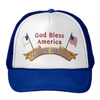 Los gorras planos cristianos patrióticos de Bill s