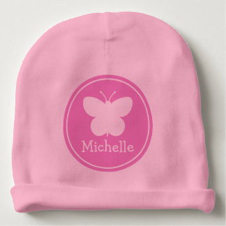Los gorras rosados femeninos de encargo del bebé gorrito para bebe