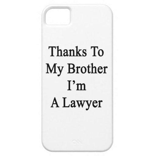 Los gracias a mi Brother soy abogado iPhone 5 Case-Mate Protector