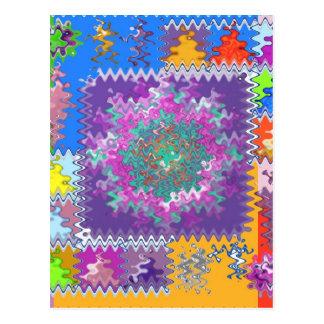 Los gráficos púrpuras - mantenga U caliente y Postal