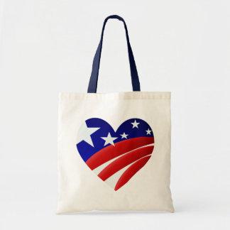 Los grandes bolsos americanos del corazón bolsa tela barata
