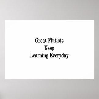 Los grandes flautistas mantienen el aprendizaje póster