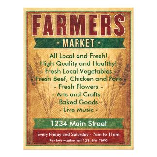 Los granjeros comercializan comen el Local Flyer