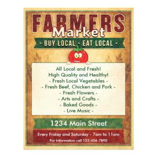 Los granjeros comercializan comen la muestra local flyer