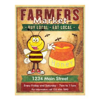 Los granjeros comercializan la miel local fresca flyer