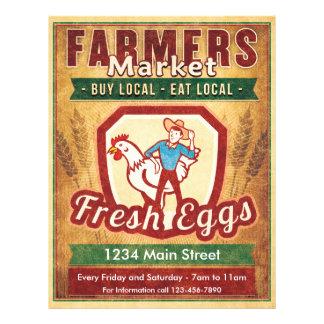 Los granjeros comercializan los huevos frescos flyer