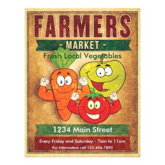 Los granjeros comercializan verduras locales flyer