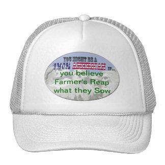 los granjeros cosechan lo que siembran gorra