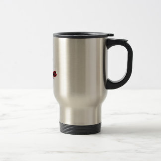 los granos de café hacen que sonríe taza de viaje de acero inoxidable