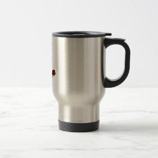 los granos de café hacen que sonríe taza térmica