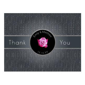 Los gris plateados color de rosa rosados postal