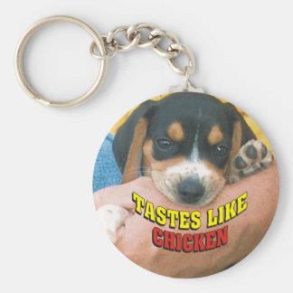 Los gustos tienen gusto del perrito del beagle del llavero redondo tipo chapa