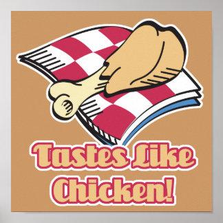 los gustos tienen gusto del pollo póster