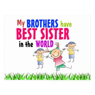 Los hermanos tienen mejor postal de la hermana