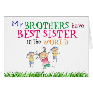 Los hermanos tienen mejor tarjeta de la hermana