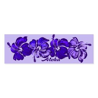 Los hibiscos de la acuarela ahorran la señal de la tarjetas personales