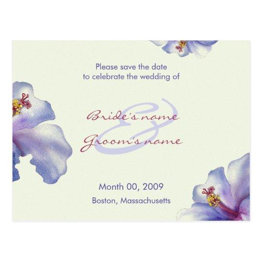 Los hibiscos púrpuras ahorran las postales de la