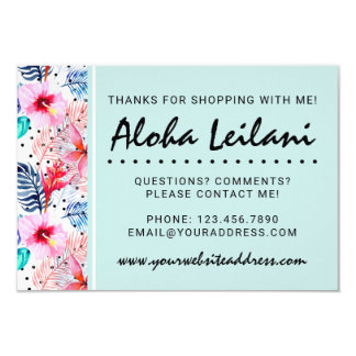 Los hibiscos y la hoja de palma hawaianos invitación 8,9 x 12,7 cm
