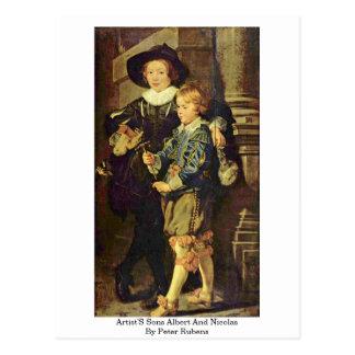 Los hijos Albert y Nicolás de los artistas de Pete Postal