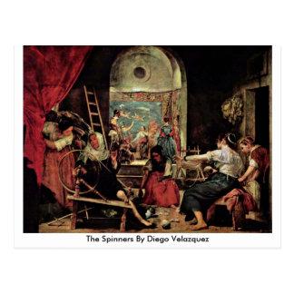 Los hilanderos de Diego Velázquez Postal