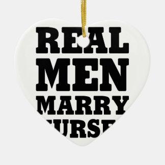 Los hombres reales casan a enfermeras adorno de cerámica