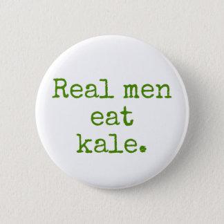 Los hombres reales comen el botón del vegano de la