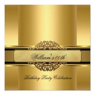 Los hombres reales elegantes de la fiesta de invitación 13,3 cm x 13,3cm