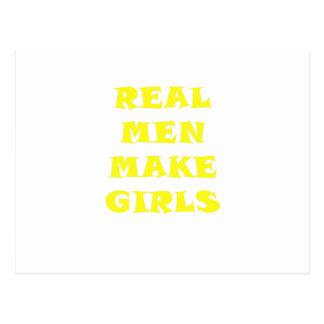 Los hombres reales hacen a chicas postal