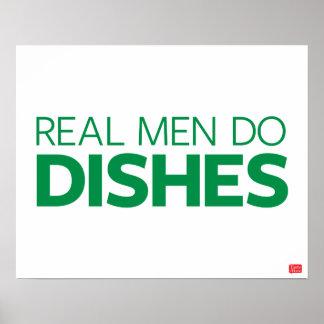 Los hombres reales hacen platos póster