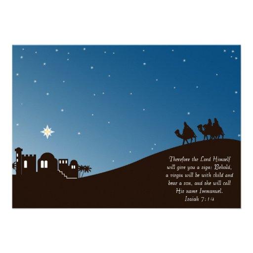 Los hombres sabios lo buscan tarjeta de Navidad pl Invitacion Personalizada