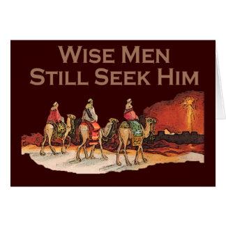 Los hombres sabios todavía lo buscan, navidad tarjeta de felicitación