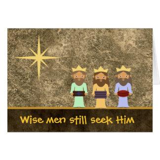 Los hombres sabios todavía lo buscan - tarjeta de