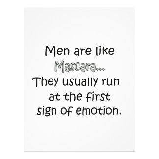 Los hombres son como el rimel folleto 21,6 x 28 cm