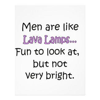Los hombres son como las lámparas de la lava folleto 21,6 x 28 cm