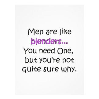 Los hombres son como los mezcladores folleto 21,6 x 28 cm