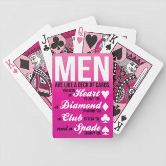 Los hombres son como una cubierta de tarjetas… barajas