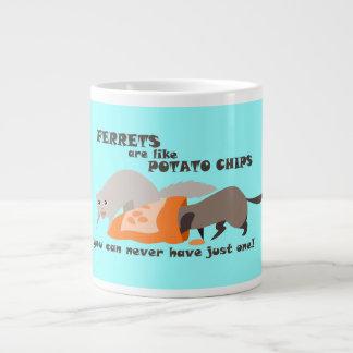 Los hurónes son como la taza de las patatas fritas